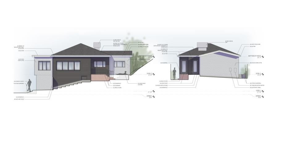Exterior elevations