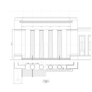 Study of entry pavilion based on antique precedent