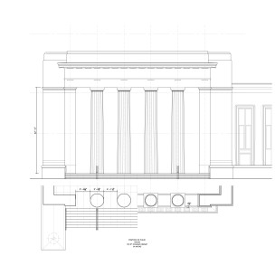 Study of entry pavilion based on antique precedent