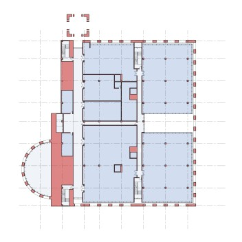 Plan at lower office floor