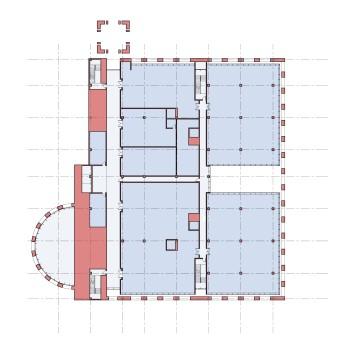 Plan at lower office floor