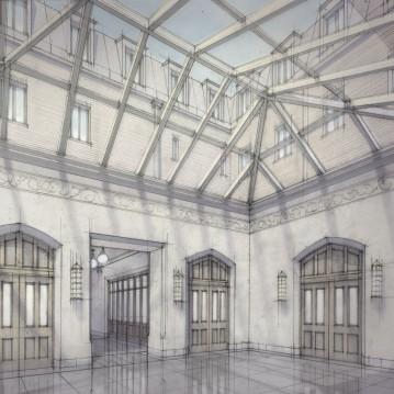 View of interior atrium