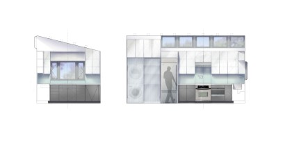 Interior elevations of kitchen