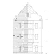 Oriel window elevation