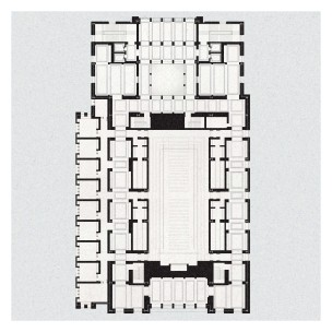 Floor plan at convocation hall level