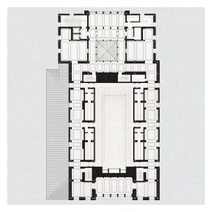 Floor plan at balcony level