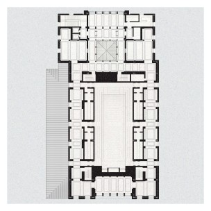 Floor plan at balcony level