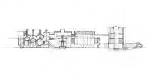 Study of the brewing architecture in section