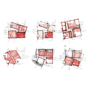 Plan studies - four squares