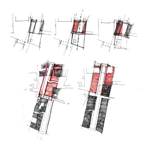 Plan studies - a fourth square and the Uffizi