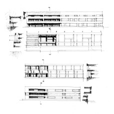 Studies of the facades along the new canals