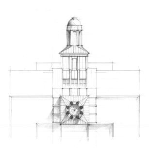 Study of tower cupola