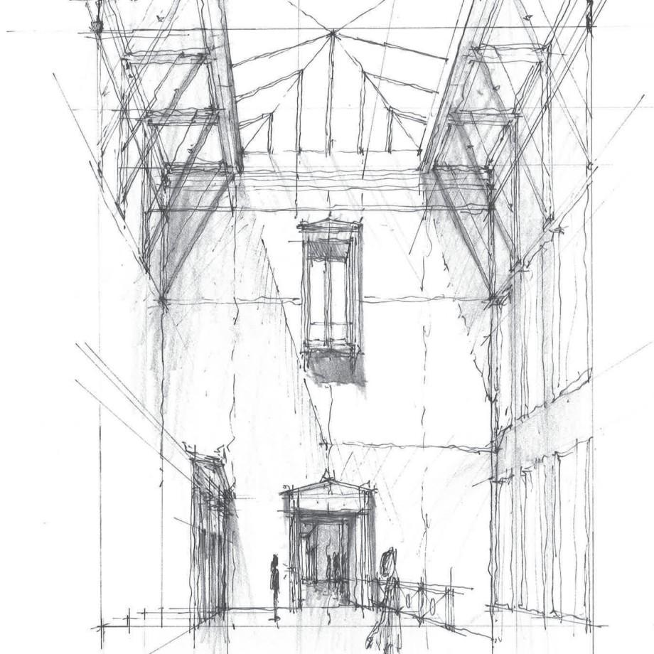 Study of tower and atrium
