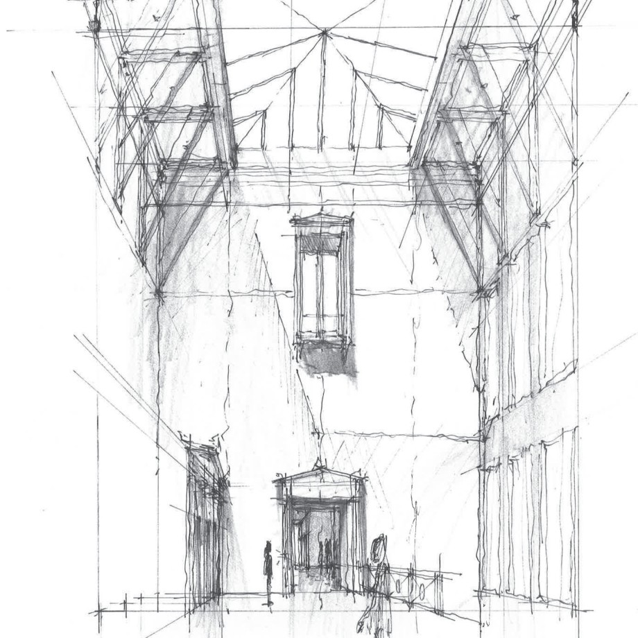 Study of tower and atrium