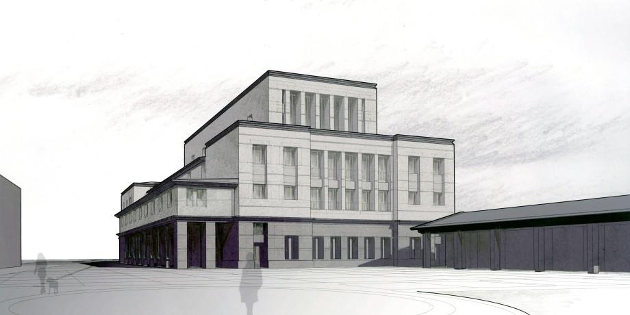 View of rear facade